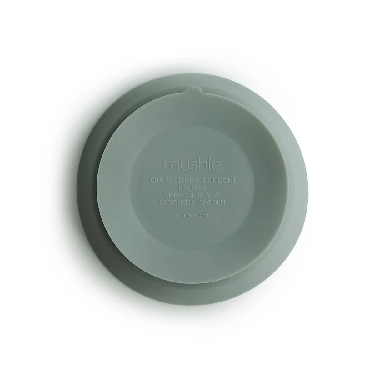 Skål - Silikon med Sugefunksjon - Mushie - Sage